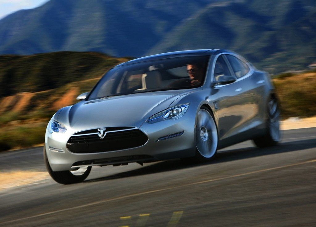 Tesla Model S In Motion