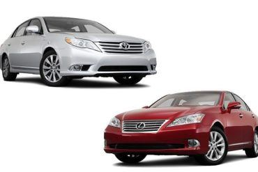 Toyota Avalon vs Lexus ES350