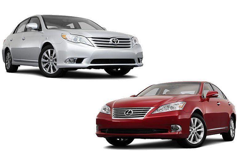Toyota Avalon vs Lexus ES350