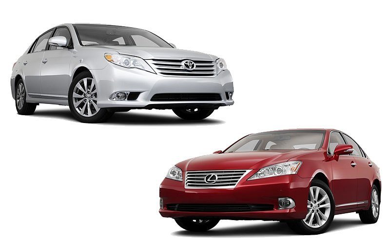 2011 lexus es350 vs toyota avalon. Black Bedroom Furniture Sets. Home Design Ideas