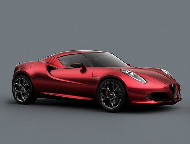 AlfaRomeo4CConceptFrontAngle