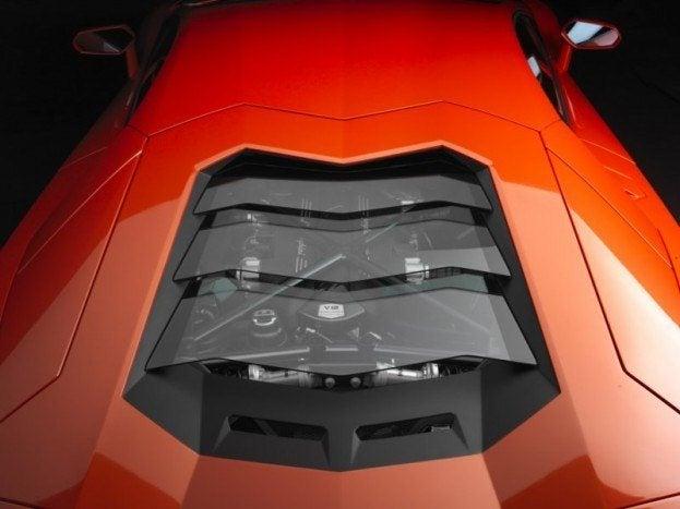 Lamborghini Aventador LP-700-4 rear