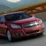 2013ChevyMalibuRedInMotion