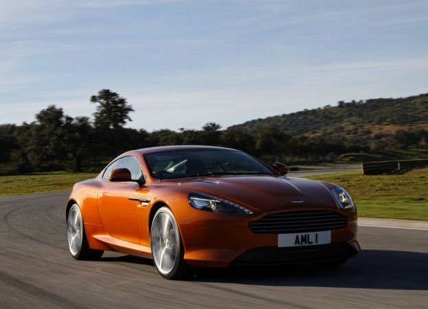 Aston Martin Front View Motion Orange