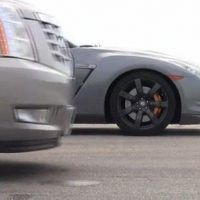 Hennessey Cadillac Escalade vs Nissan GT-R