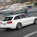 AudiA6AvantRearSideMotionWhite2