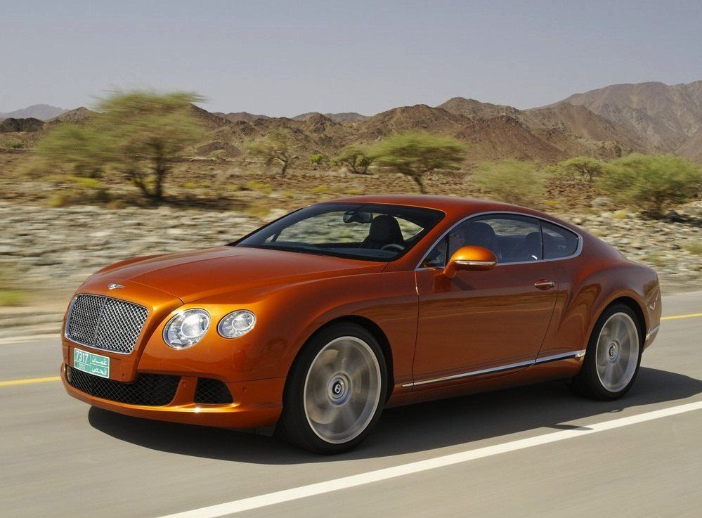 BentleyContinentalGTOrangeInMotion