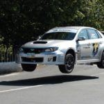 Subaru jumping