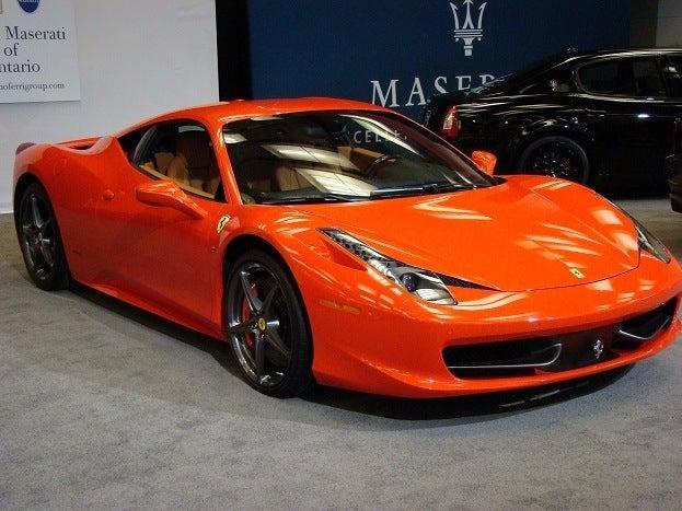 Ferrari 458 Italia front side
