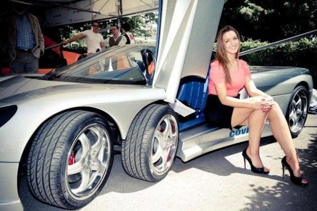 Mercedes Exotic Sports Car