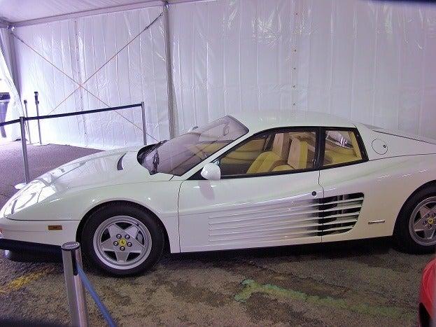 White Ferrari Testarossa