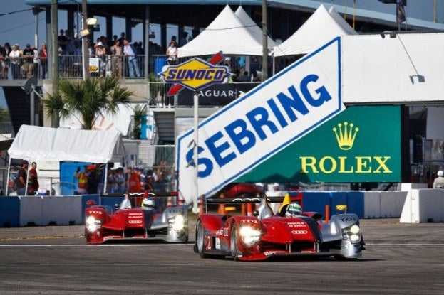 Audi running the 59th 12 Hours of Sebring