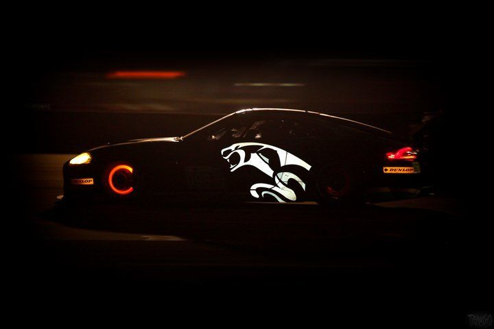 Jaguar at night @ 59th 12 Hours of Sebring