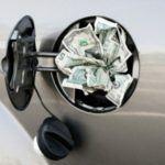 gas tank full of money