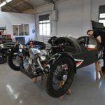 original 1930s 3 wheeler with new ones in morgan 3 wheeler ltd. shop c opt