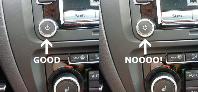 VW Jetta Volume Knob