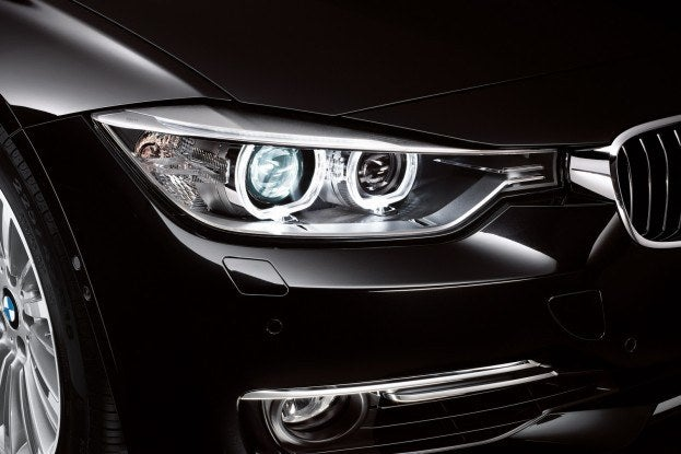 2012 BMW 3-Series headlight