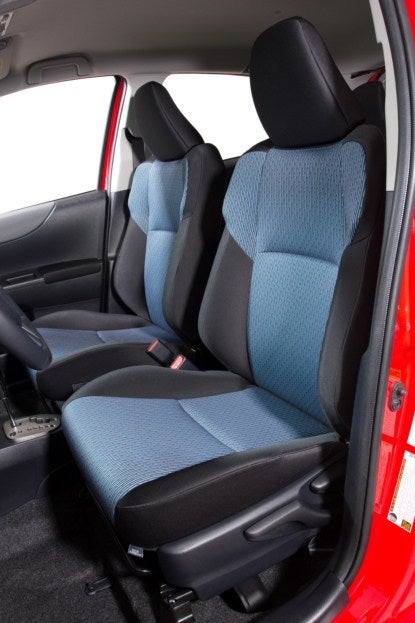 2012 Toyota Yaris seats
