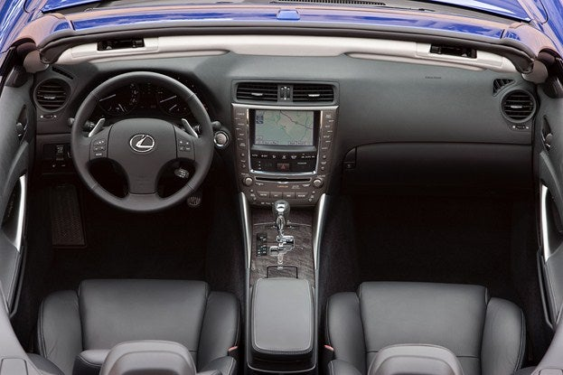 2012 Lexus IS-C interior