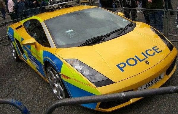 Lamborghini Gallardo British Police