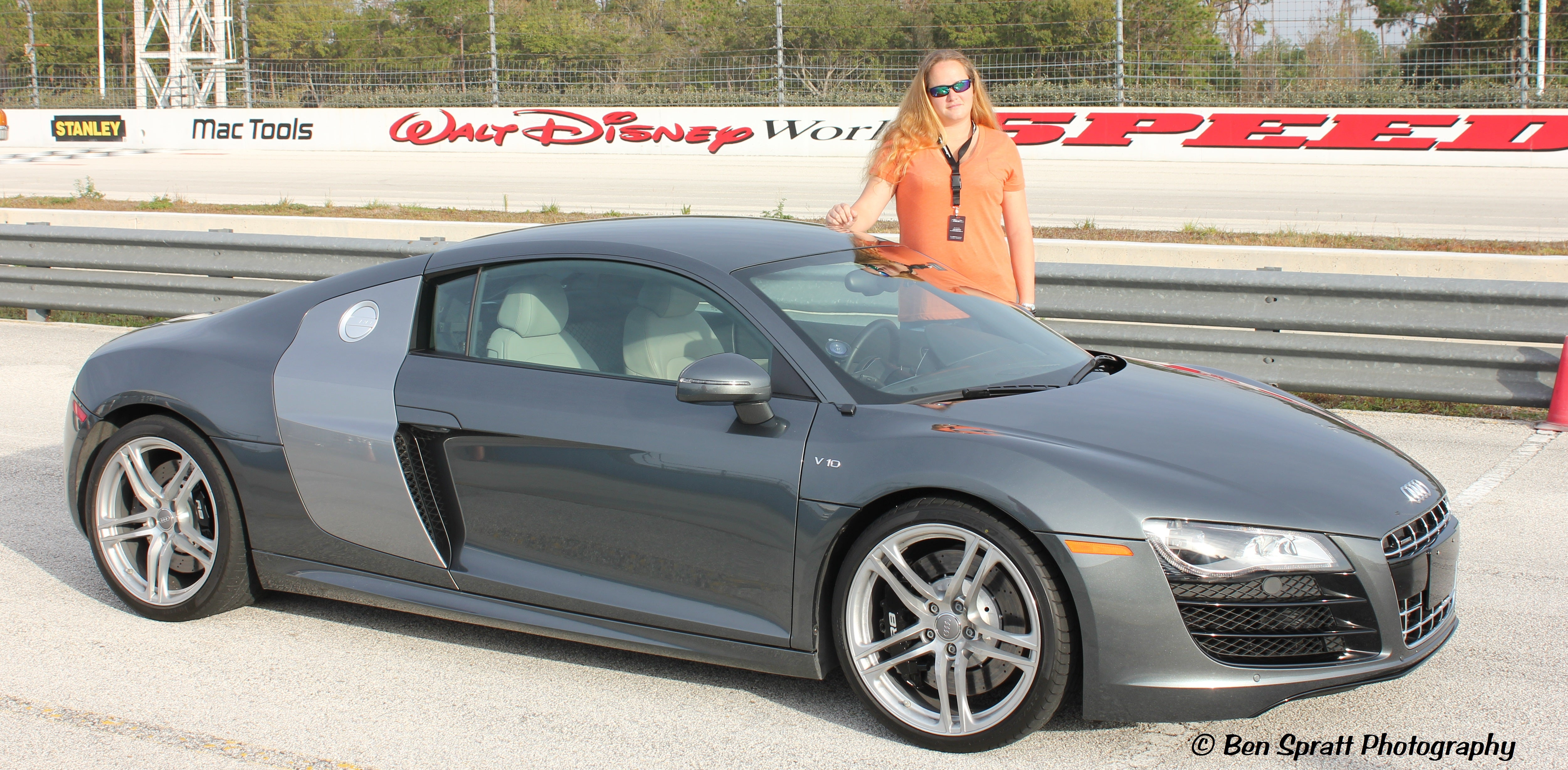 Mandie with the Audi R8