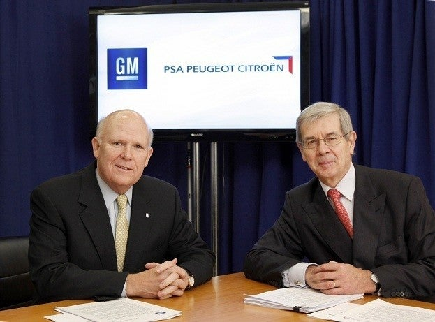 Peugeot and GM Enters New Platform-Sharing Alliance