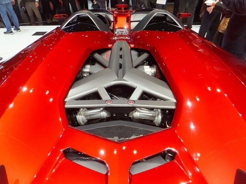 Lamborghini Aventador J engine