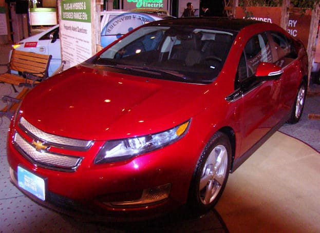2012 Canadian International Auto Show chevy volt red