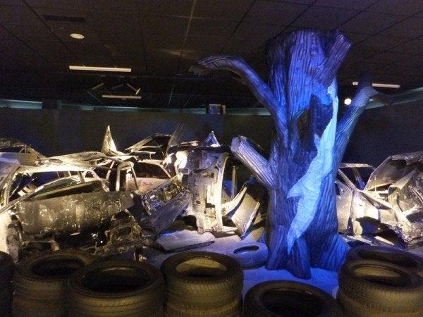 Car waste display