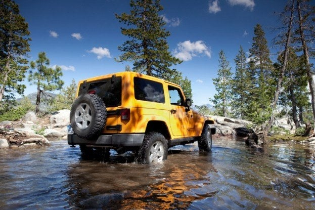2012 Jeep Wrangler Crossing Stream
