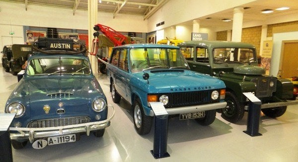 1955 Austin A90 Westminster, 1969 Range Rover, & 1949 Land Rover Series 1