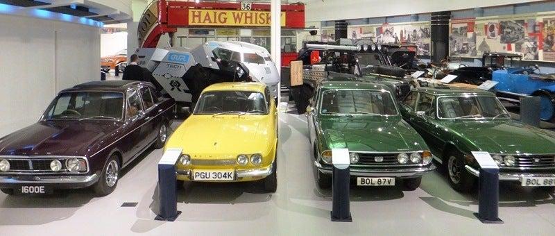1968 Ford Cortina 1971 Reliant Scimitar 1977 Triumph 1977 Triumph