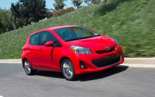 2012-Toyota-Yaris-passengers-side-three-quarters