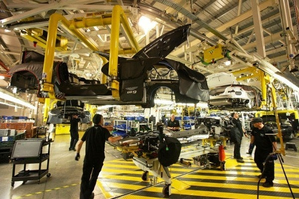 Aston Martin Factory body 600x399 A Private Tour of the Aston Martin Factory   Tea & Biscuits