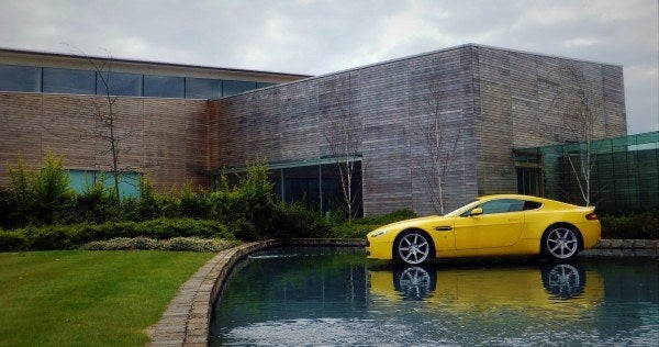 Aston Martin Factory floating Vantage 600x316 A Private Tour of the Aston Martin Factory   Tea & Biscuits