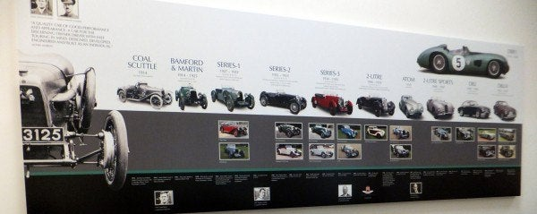 Aston Martin Factory history 1 600x239 A Private Tour of the Aston Martin Factory   Tea & Biscuits