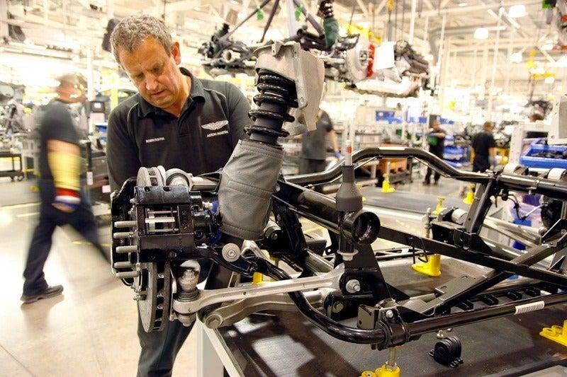 Aston Martin suspension assembly