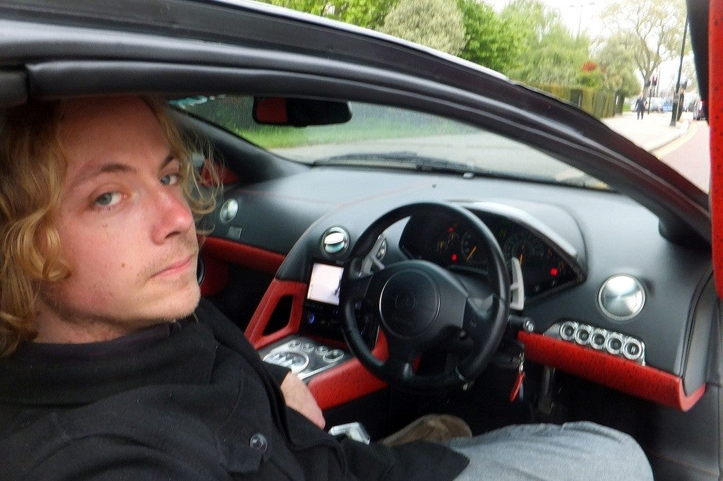 Me in the Prindiville Lamborghini Murcielago