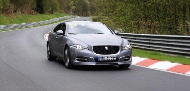 2012 Jaguar XJL on track
