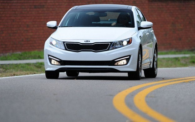 2012 Kia Optima Hydrid driving