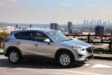 2013 Mazda CX 5 in view of downtown Los Angeles 623x389