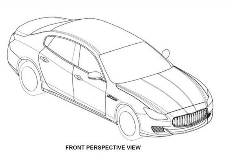 2014 maserati quattroporte patent drawings 01