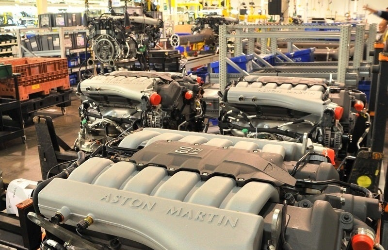 Aston Martin Engine at Factory
