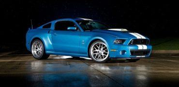 2013 Shelby GT500 Cobra frt 34 370x180 - Carroll Shelby's Memory Honored with 850-Horsepower GT500 Cobra