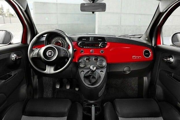 2012 Fiat 500 Sport interior