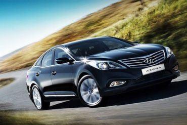 2012 Hyundai Azera Front Three Quarter 623x389