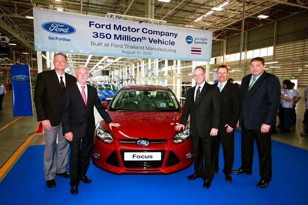 Ford Produces 350 Millionth Vehicle A Focus In Thailand