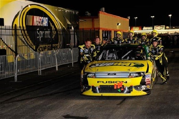 carl edwards dnf atlanta 2012 John Harrelson Getty Images for NASCAR