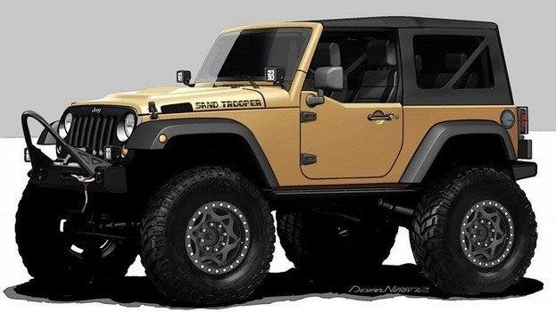 Jeep Wrangler Sand Trooper concept