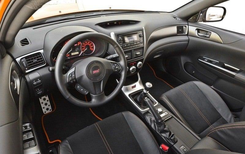 Subaru WRX STi Orange and Black interior